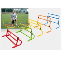 Wholesale new style soccer hurdle training barriers frame football practise adjustable hurdle shrink fold multifunctional