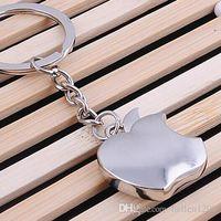 trinkets - NEW Novelty Souvenir Metal Apple Key Chain Creative Gifts Apple Keychain Key Ring Trinket