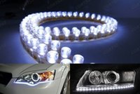 "Cheap 2 x 20"" Daytime Running Light White 48 LED Strip Driving DRL Car Fog Parking Signal Light Lamp Styling"