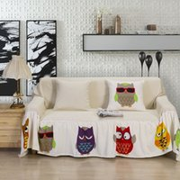 beige sofa set - Korean sofa covers full set beige cotton fabrics textile for home sofa cover slipcover blanket couch covers home decoration