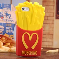 iphone4s mobile phone - 3D Cute McDonald s French fries Soft Silicone Mobile phone Back Case Cover For iPhone4S S Samsung Galaxy Note2 S3 S4 S5