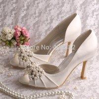 Gros- (13 couleurs) Couleur personnalisée et chaussures à talons Ivoire cristal et de perles de mariage Summer Open Toe livraison gratuite