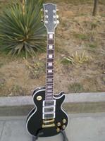 lp guitar - Ovation guitar high quality best greatest maple fretdoard mahogony body lp custom black electric guitar
