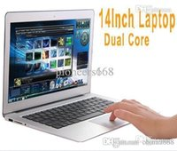 Cheap 14 inch Dual Core laptop tablet pc DDR3 1GB TO 4GB 160GB TO 500GB Win7 win 7 Air Book D2500 Notebook Computer PC ultrabook cheap laptops