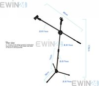 Wholesale New Black High Quality Professional Boom Microphone Mic Stand Holder Adjustable With Clips
