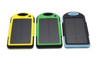 battery charger mobile homes - 5000mAh Solar power Charger and Battery Solar Panel waterproof shockproof Dustproof portable power bank for Mobile Cellphone Laptop Camera
