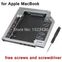 apple optical drive - New Second HDD Caddy nd SATA Hard Disk Drive mm SSD Enclosure For Apple For Macbook Pro A1278 A1286 A1297 CD ROM Optical Bay order lt no