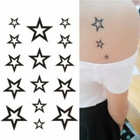 Wholesale New Fashion Design Temporary Tattoos Body art Tattoo Stickers cartoon waterproof styles High Quality HC08 stars