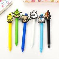Wholesale DHL New star wars Stationery Cute Cartoon Neutral Pen Student School Gel pen Office supplies Star Wars Pens C262