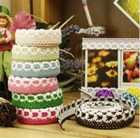Wholesale Hot pc Lace Face Decorative Tape Adhesive Tape Wash Cloth Tapes Stickers Masking Tape Stationery School Supplies BZ871801