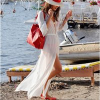 women dress suits - 2015 NEW Fashion Women Kaftan Beach Dress Sexy Ladies Swimwear Bikini Beach Cover Up White Bathing Suit Cover Ups Beach Wear