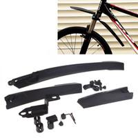Wholesale Universal Mountain Road Bike Bicycle Front Rear Mudguard Fender Set Kit Black