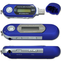 Wholesale BLUE GB USB MP3 Player with LCD Screen FM Radio