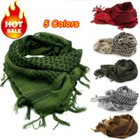 hijab - High Quality Military G Weight windproof Muslim Hijab Shemagh Tactical Desert Arabic Keffiyeh Scarf Cotton Thickened Wargame Scarf