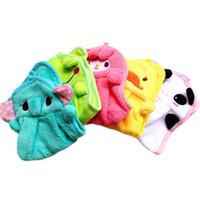 Wholesale S5Q Supersoft Plush Coral Velvet Cartoon Animal Baby Wipe Hanging Bathing Towels AAAFDK