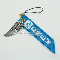 airlines klm - Fashion Jewelry Key Chains KLM Netherlands Airline Mobile Phone Strap Chain with Metal Wing Blue Gift for Aviation Lover Flight Crew