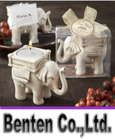 baby candle holders - llfa458 Newest Lucky Elephant Antique Ivory Candle and Card Holder Wedding Favors and Baby Gifts free shiipping