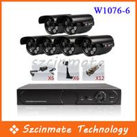 Wholesale 6 Channel CCTV DVR H Digital Video Recorder Bullet Camera Waterproof Set