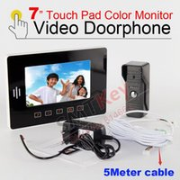 access pad - 7 inch touch pad color monitor waterproof outdoor unit camera video door phone intercom for home visitor access