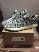 Wholesale Men s shoes for women s shoes Big talker coconut Kanye West Yeezy boost sports leisure low help shoes