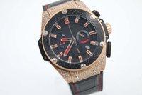 big gold belt - brand fashion watches men Big Bang king power F1 k gold diamond case leather belts watch quartz chronograph watch men dress wristwatches
