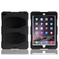 Wholesale Perfect protection case for ipad air2 Survivors series ipad case with clip stand PC Silicon Dust Drop Shockproof case
