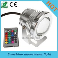 Wholesale New Arrivel w RGB LED Outdoor Underwater Lights Waterproof IP68 Flood Light DC12V Colors aquarium lamp