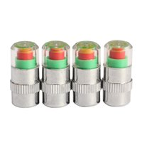 Wholesale 4Pcs Car Auto Tire Air Pressure Valve Stem Caps Sensor Indicator Alert Bike