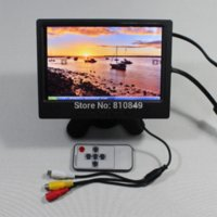 Wholesale 7inch x800 Lcd monitor with HDMI VGA AV Reversing with Europe Power supply monitor lcd lg lcd monitor inch