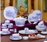 Wholesale 56 skull jingdezhen porcelain tableware suit abnormity bowl of plates