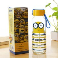 Wholesale 100pcs Car Water Cup Cartoon Minions Despicable Me glass Texture Suction Cup Vacuum Cup ML
