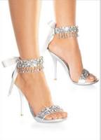 al por mayor zapatos de tacón alto-zapatos de novia nueva boda zapatos de moda de plata Rhinestone boda zapatos de tacón de la sandalia de las mujeres zapatos de novia