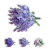 Wholesale hot selling Fake Bouquet Wedding Artificial Flower Lavender Home Wedding Decor flower per