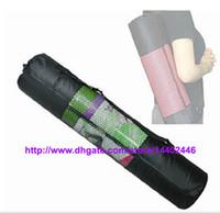 Wholesale Fast DHL nylon yoga bag yoga mat bag carrier mesh center yoga backpack Black Color