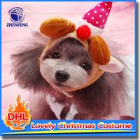 Wholesale Christmas Carton Style Dog Hat With Mesh Lining Cap For Puppy Dog Make Up Dog Accessory Pet Products