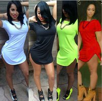 Wholesale 13 Colors Size S XL Summer Short dress For Women sexy club bandage party Dresses Plus size women s clothing Tops