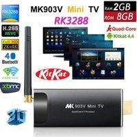 Wholesale Rockchip RK3288 Quad Core Android TV Box MK903V K Media Player G G Smart TV Stick Dual Wifi GHz XBMC Bluetooth H DLNA Dongle