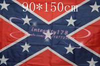 Wholesale 2015 high quality USA Two Sides Printed Flag Confederate Rebel Civil War Flag National Polyester Flag FT DHL free shippinh