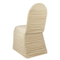 ruched chair covers - ivory ruched lycra chair cover for wedding party banquet