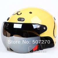 b w motorcycle - B Taiwan quot EVO quot New ABS Scooter Casco Half Face Motorcycle quot Big Dog quot Yellow Helmet amp UV quot W