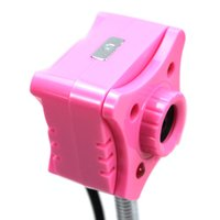 Wholesale MP USB HD Flexible Neck PC Webcam Web Camera with LED Light Pink