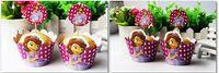 Sofía envolturas de la magdalena de la princesa y los primeros de 1set = 24pcs decoraciones de la fiesta de cumpleaños del bebé fiesta de suministros ducha chica sofia nueva llegada