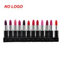 Wholesale Waterproof Lipstick Colors Lipstick Wholsale Cosmetic MakeupTool Long lasting Lip Stick Gloss Matte Color NO LOGO