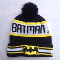 batman hat snapback - 2015 men hats Hip Hop Unisex Batman Beanies Wen s Women s Autumn Winter knit Cotton wool Hats Snapback caps