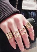 Cheap 2014 Women Fashion MIDI Rings 5pcs Alloy Ring Set Wide And Thin Multi-layer Ring For Lady Party Wear