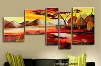 africa hut - The Africa Hut Real Handmade Modern Abstract Oil Painting On Canvas Wall Art Z032