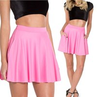 Wholesale Pink Fashion Short Skater Skirt Female Mini Short Skirt Saias Femininas