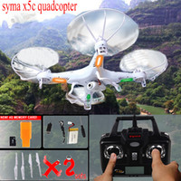 Wholesale 100 Original G CH Axis SYMA X5C Upgrade X5C Toys RC Helicopter with MP HD Camera or without camera Quadrocopter Drone A3