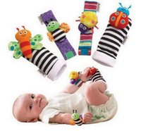best finder - 4000pcs Best sozzy Wrist rattle foot finder Baby toys Baby Rattle Socks Lamaze Baby Rattle Socks and wristbands