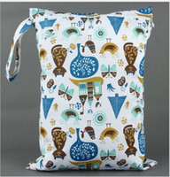 Wholesale 40 Styles Hot Baby Protable Nappy Reusable Washable Wet Dry Cloth Zipper Waterproof Diaper Bag Accessories A